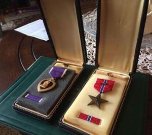 Gene Miller's medals.