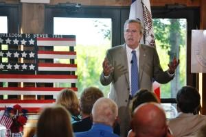 Jeb Bush campaigning in Ames. (file photo)