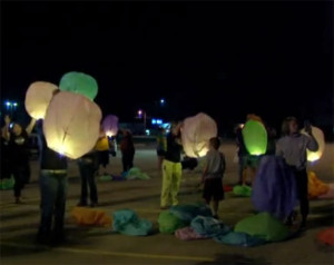 Former employees at Mount Pleasant released luminaries after the facility closed.