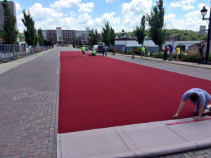 Coralville rolls out the red carpet for bicyclists.