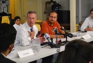 Martin O'Malley's round-table discussion on immigration reform.