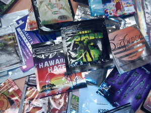 Synthetic drugs come in various packages designed to attract teens.