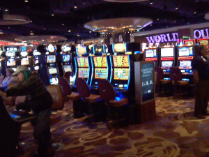 Slot machines at the Hard Rock Casino in Sioux City.