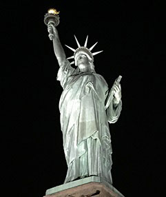 Musco Lighting of Oskaloosa supplied new lights for the Statue of Liberty.