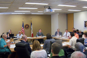The State Board of Education meeting in Des Moines.