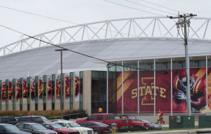 ISU football practice facility.