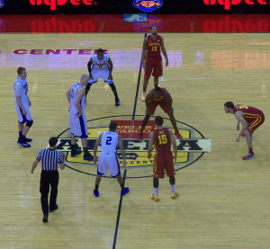 Drake playing ISU at last year's Big Four Classic.