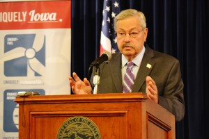 Terry Branstad at his news conference this morning.