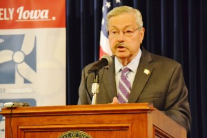 Terry Branstad, at his Monday morning news conference.