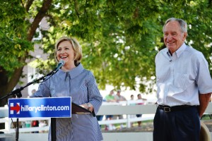 Hillary Clinton and Tom Harkin at the Iowa State Fair.