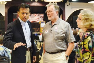 Bobby Jindal meeting with attendees of the Lincoln Dinner event in Waterloo.