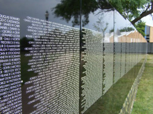 The Vietnam wall in Hawarden.