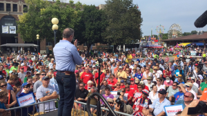 Martin O'Malley at the Des Moines Register's Soap Box.