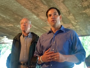 Chuck Grassley and Marco Rubio at the Iowa State Fair.