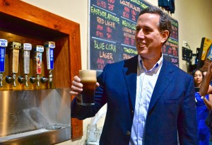 Rick Santorum at the Confluence Brewery.
