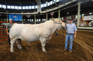 "Craig Salcup and second place Super Bull ""Chubbs."""