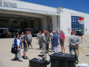 Governor Terry Branstad toured the Iowa Air Guard facility earlier this summer.