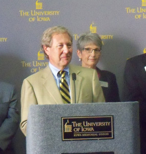 Bruce Harreld speaks after being named U-I President.
