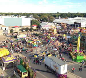 The midway at the Clay County Fair.