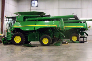 Large farm equipment will come out of the shed and onto roadways as the harvest gets underway.