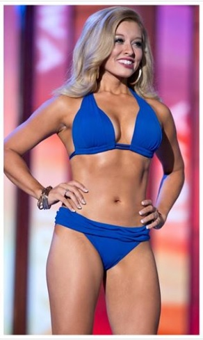 Miss Iowa Taylor Wiebers placed 1st in the Lifestyle & Fitness category, also known as Swimsuit.