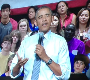 President Obama at Des Moines North High School