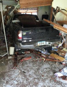 A resident was killed when this truck plowed into the Pleasant Acres Nursing Home in Hull.