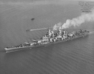 Battleship USS Iowa. (Navy photo)