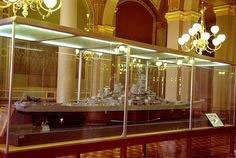 USS Iowa model at the state capitol.