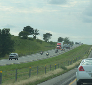 Traffic on Interstate 80 in eastern Iowa.