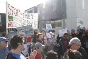 Baaken pipeline protestors.