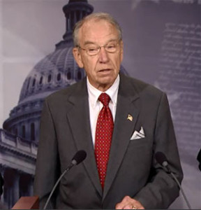 Senator Chuck Grassley speaks about the sentencing reform legislation.