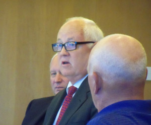 Iowa Lottery CEO Terry Rich talks during the Lottery board meeting.