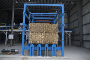 A bale of stover that's turned into ethanol.