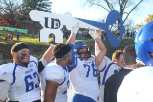 The Key to the City Trophy is given annually to winner of the game between Loras and the University of Dubuque photo courtesy/UD athletics
