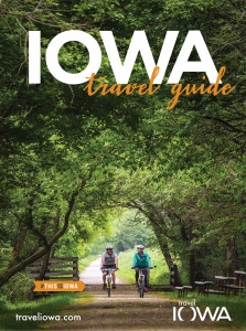 Cover of 2016 Iowa Travel Guide featuring Wabash Trash Nature Trail