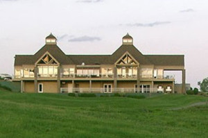The Amana Clubhouse before the fire.