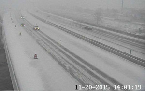 DOT traffic camera view on I-29 in Sioux City.