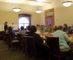 Members of ICCI and the DNR meet at the state capitol.
