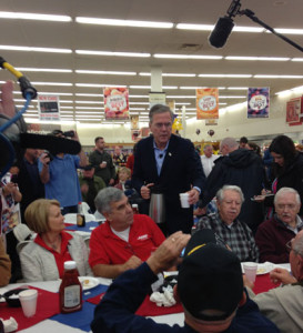 Jeb Bush in Johnston.