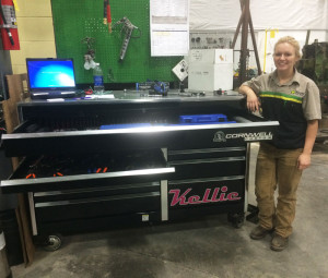 Einck found she has a passion for working on agriculture equipment.