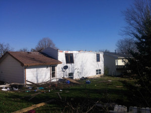 Home damaged in Knoxville.