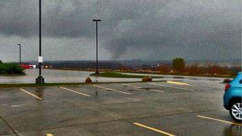 Tornado near Avoca (All photos from the National Weather Service's Facebook page)