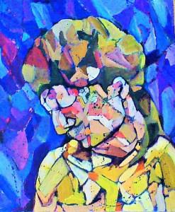 Painting by Savannah Belgarde.
