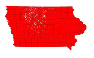 Farm Bureau map shows the area WOTUS would control.