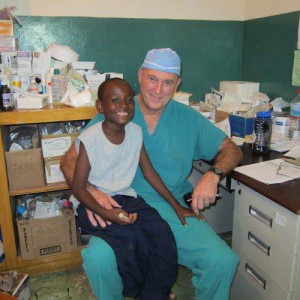Dr. Wilkerson and Jean Junior in 2010 in Haiti.