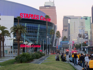 Hawkeye fans in Los Angeles.