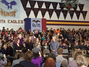 Hillary Clinton in Keota 12.22.15