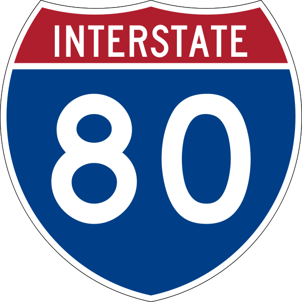 Interstate 80 shield