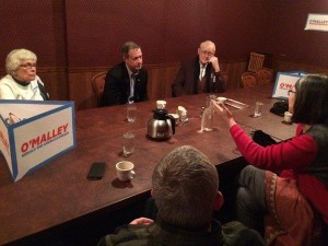 O'Malley campaigned in Webster City Monday morning